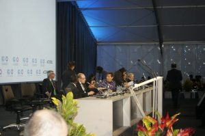 Guests on the high table  Lima COP 20 opening ceremony in pictures Opening 300x199