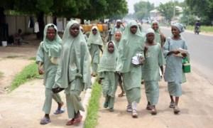 School children in Borno State, Nigeria. Photo credit: premiumtimesng.com  Children living in fear in northeastern Nigeria Borno schools 300x180