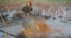 Oil spewing from busted Shell equipment in Nigeria  Buhari urged to implement UNEP report on Ogoniland Oil spewing from busted Shell equipment in Nigeria