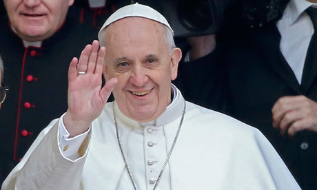 Pope Francis. Catholic communities have committed to switch the management of their finances away from fossil fuel extraction. Photo credit: dailytimes.com.ng