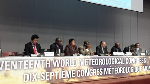 A session at the17th Congress of the World Meteorological Organization (WMO) in Geneva, Switzerland. Photo credit: meteotz1950.blogspot.com  WMO: How Africa will develop Regional Space Programme wmo e1434586814112