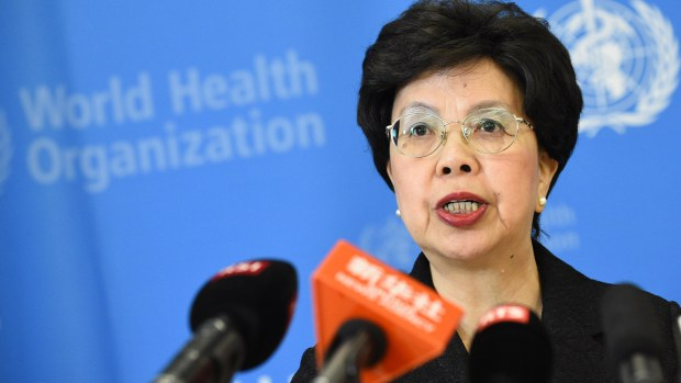 World Health Organisation (WHO) Director-General Dr. Margaret Chan. Photo credit: ALAIN GROSCLAUDE/AFP/Getty Images)