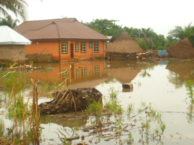 A flooded part of Makurdi, Benue State