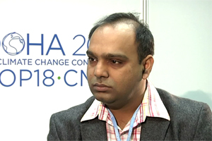 Sanjay Vashist, CANSA Director. Photo credit: unfccc.int