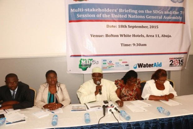 Participants at the multi-stakeholder forum on MDGs ...in Abuja