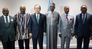 President Buhari and African leaders from Ghana