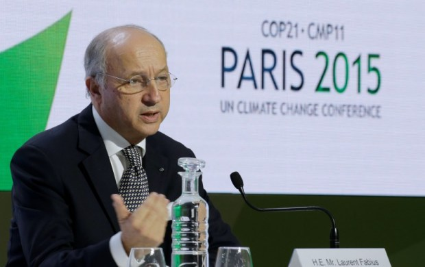 French Foreign Affairs Minister and President-designate of COP21, Laurent Fabius . Photo credit: REUTERS/Jacky Naegelen