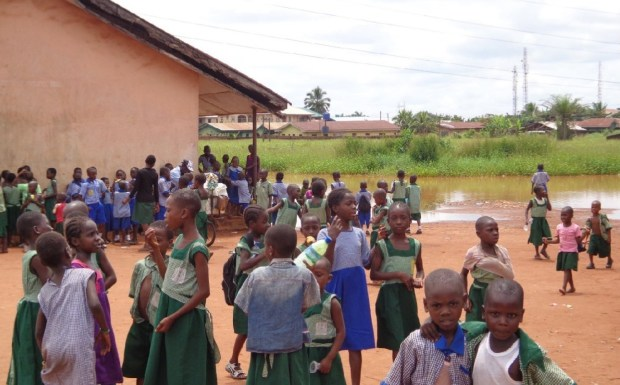 What is left of the school compound the children have to use for recreation and urination, etc  A tale of a primary school in distress in Edo State School 3