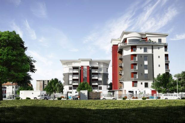 Elevation view of the estate  'Simeon Court' makes a debut at highbrow Oniru Estate in Lagos CAM 1