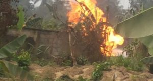 Agip  Rivers community deserted as Agip flow station burns IMG 20160214 WA0004