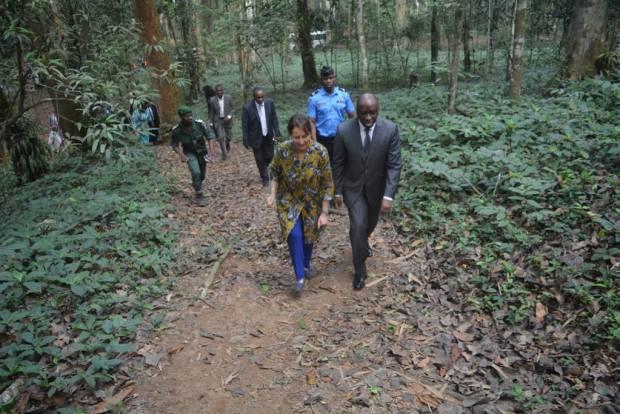 With Ivorian Environment Minister, Rémi Allah-Kouadio  Photos: Ségolène Royal visits Côte d'Ivoire 12764634 1078577565537864 6836325393030100204 o