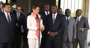 Ouattara Alasane  Photos: Ségolène Royal visits Côte d'Ivoire segol  ne