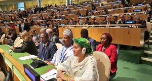 NY1  Images: Nigeria delegation graces UN Paris Agreement signing NY1
