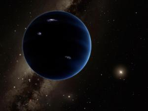 This artistic rendering shows the distant view from Planet Nine back towards the sun. The planet is thought to be gaseous, similar to Uranus and Neptune. Hypothetical lightning lights up the night side. Photo credit: Caltech/R. Hurt (IPAC)  Mysterious planet may destroy Earth this month, says scientist planet 9 300x224