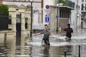 Evacuated: Residences, schools and a retirement home were evacuated in the town of Montargis, south of Paris and pictured above