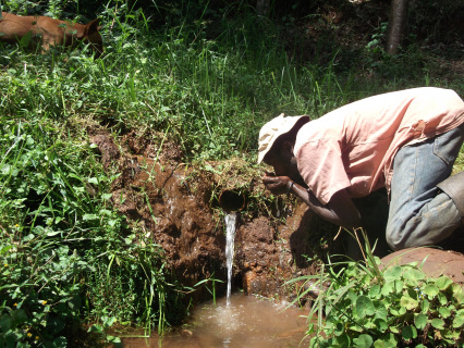 There is a dire need for drinking water. Photo redit: Benedict Tirop  Shrinking Kenya rivers endanger Tionosoyiet Wetland in Kericho Kenya1