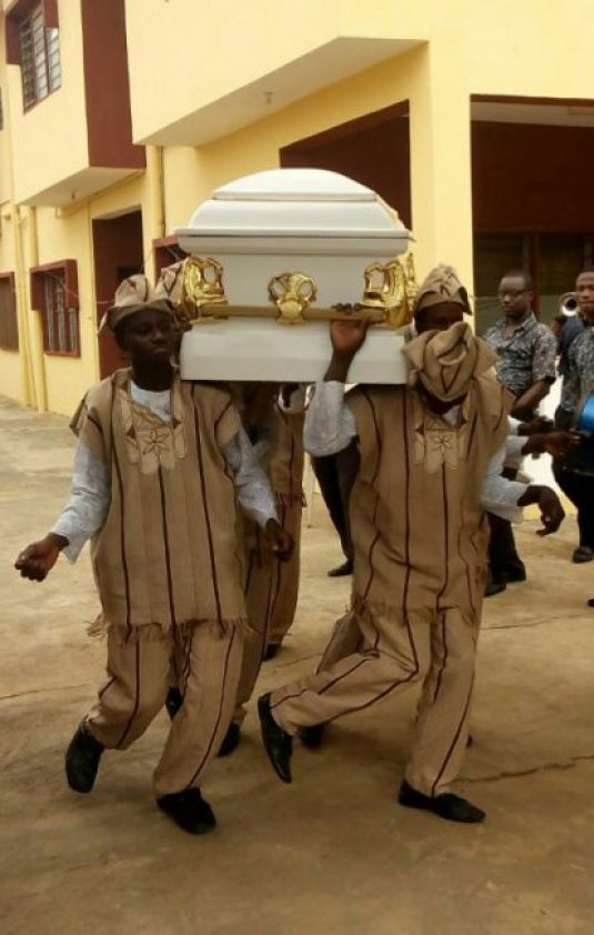 Pallbearers at the funeral