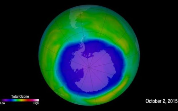 The hole in the ozone layer has shrunk by more than 1.7 million square miles since 2,000, according to scientists. Photo credit: NASA GODDARD