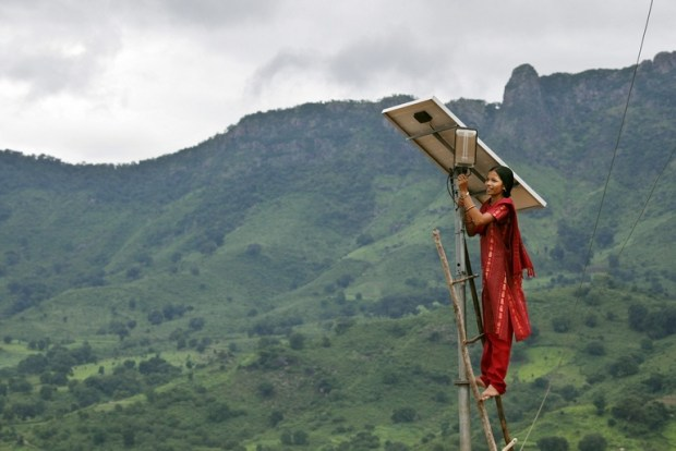 A NAMA solar power project. Photo credit: DFID   Assessing role of post-Paris Agreement NAMAs grid 1jpg