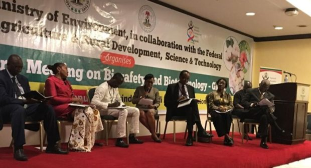 A panel discussion session during the meeting  When biotech experts met: Truth behind the facts Biosafety e1471464405735