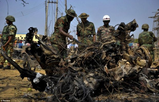 Aftermath of a Boko Haram attack   NEMA provides for repentant Boko Haram insurgents Boko e1470161653676