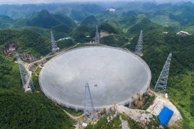 """A """"strong signal"""" detected by a radio telescope in Russia that is scanning the heavens for signs of extraterrestrial life has stirred interest among the scientific community. Photo credit: AFP Photo/Ye Aung Thu"""
