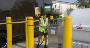 UPS Propane Powered Package Car