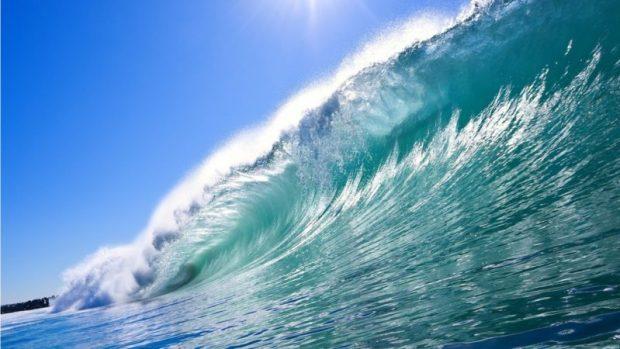 Ocean surf. Scientists say oceans began warming in the mid-1800s