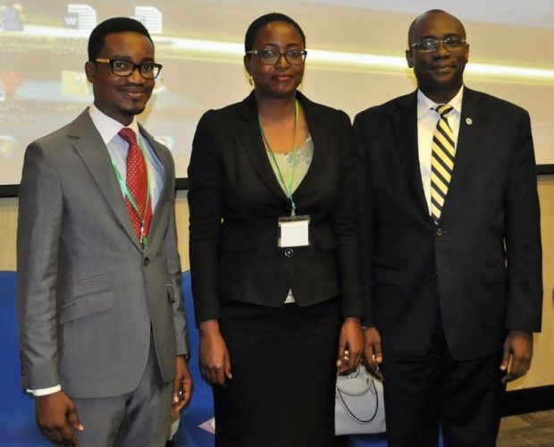 L-R: Mr. Yomi Banjo, Environment Expert, UNIDO Regional Office, Nigeria; Ms. Ozunimi Iti, Industrial Development Officer, Montreal Protocol Unit, Environment Branch, Vienna; and Dr. Chuma Ezedinma, Officer in Charge, UNIDO Regional Office, Nigeria, during the Stakeholders Workshop for the Preparation of the Stage II of the Hydrochloroflorocarbon Phase-Out Management Plan (HPMP) for the Refrigeration and Air-conditioning Manufacturing Sector in Lagos, Nigeria.
