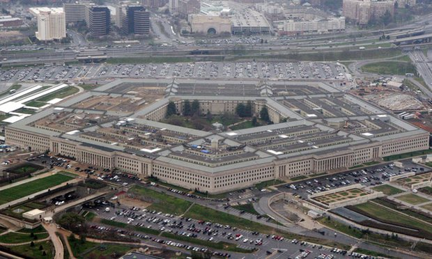 The Pentagon, headquarters of the United States Department of Defense, in Arlington County, Virginia. The Pentagon ordered its officials in January to start incorporateing climate change into every major military consideration, from weapons testing to preparing troops for war. Photo credit: Charles Dharapak/AP