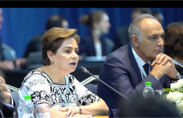 Patricia Espinosa, UNFCCC Executive Secretary (left), and Salaheddine Mezouar, President of COP22 and Minister of Foreign Affairs and Cooperation of the Kingdom of Morocco, say the world can celebrate a new dawn