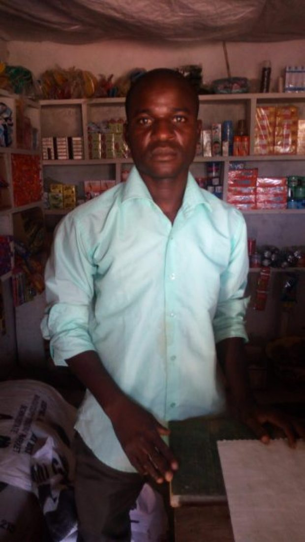 """Monday Benson, a trader and beneficiary of the solar lamp: """"Before now, I spent about N200 every day to fuel the generator. I am now able to save more money as I no longer buy fuel for the generator. In fact, every month, I save about N5,000 in my account, something I was not able to do before. This is very good for me because I plan to get married very soon."""""""