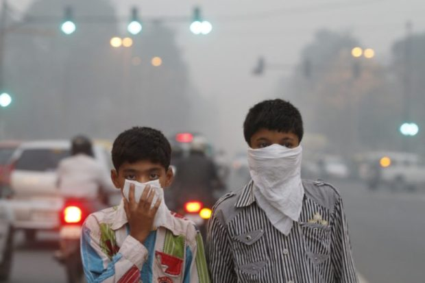 Children exposed to air pollution