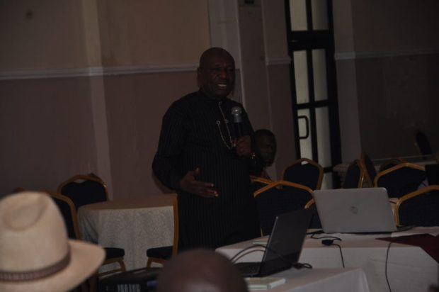 Dr Moses Ama, National Coordinator, Nigeria REDD+ Programme, making a presentation  Images: Cross River State REDD+ stakeholder forum DSC 0050 e1480860869576