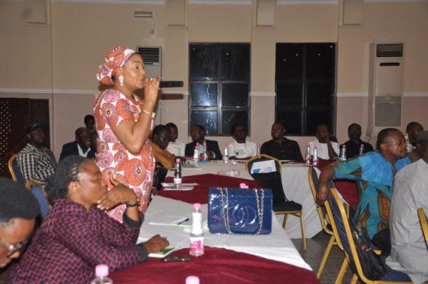 Harwa Umar, Gender Focal Person, Nigeria REDD+ Programme, making a contribution  Images: Cross River State REDD+ stakeholder forum DSC 0139 e1480861563281