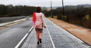 solar panel  World's first 'solar panel road' opens in France France has Worlds First Solar Panel Road 6