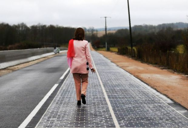 World's first 'solar panel road' opens in France France has Worlds First Solar Panel Road 6