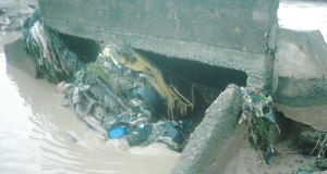 drainage channel  Traffic snarl imminent as Lagos commences work on drainage channel Flood10