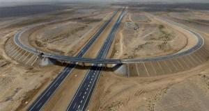 China Desert Highway  Part of world's longest cross-desert highway opens Desert Highway