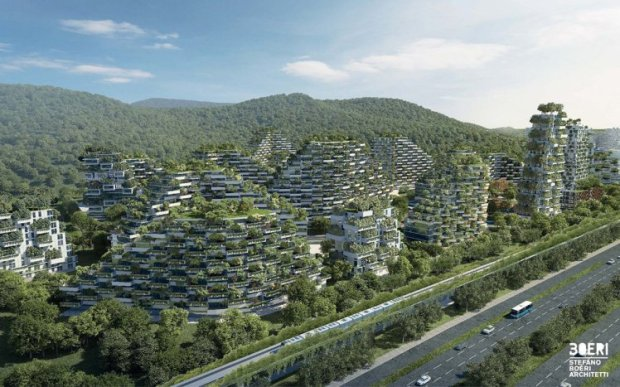 Forest City1  Images: China plans 'forest city' Forest city1
