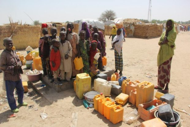WHO IDP camp  MSF decries lack of shelter, sanitation for 5,000 IDPs in Borno WHO e1504197012363