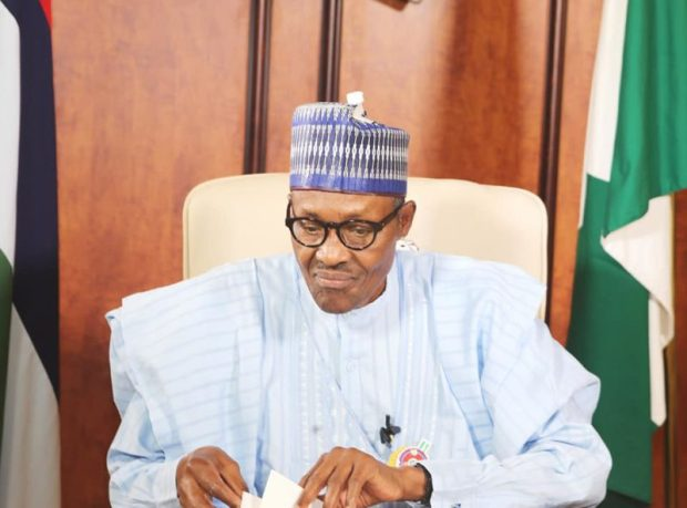 Muhammadu Buhari  Buhari reiterates commitment to science, technology intervention funds New Year e1514834615945
