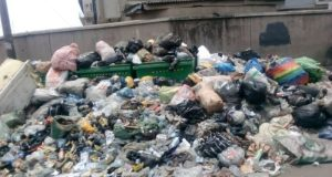 Heaps of refuse on a Lagos feeder road  Refuse invasion: A looming epidemic outbreak in Lagos? Refuse 1 e1522459648618
