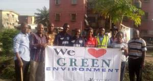 Estate Youth Parliament  WED 2018: Youths give deteriorating Isolo estate environment a facelift Green