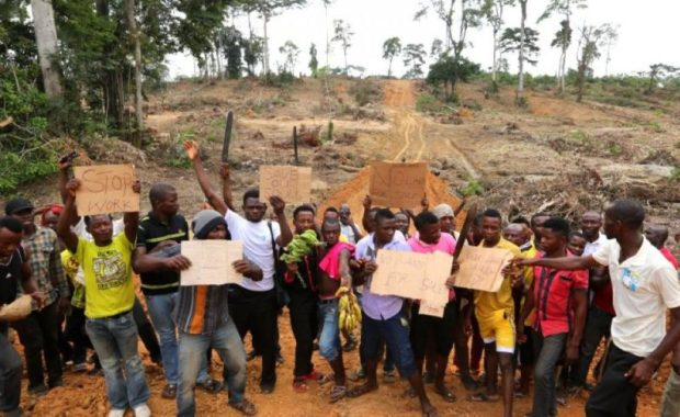Wilmer protest  Cross River communities seek review of operational agreement with oil plantation Wilmer protest e1529250775853