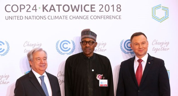 Buhari COP24  Buhari joins other world leaders at opening of climate summit Buhari in poland