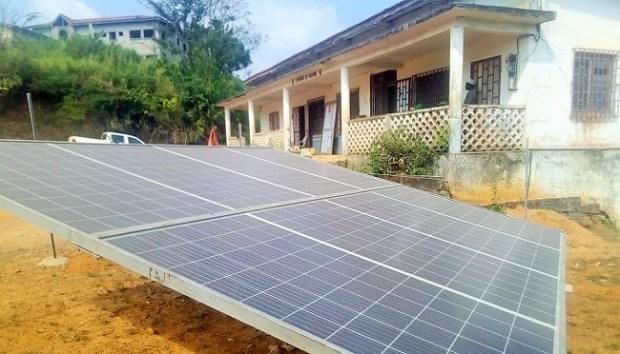 Solar panels at Ngambe Council