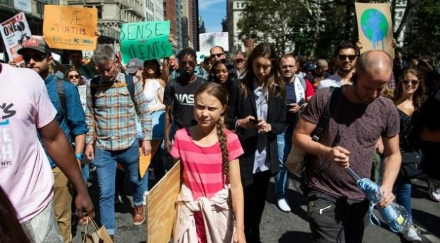 Greta Thunberg  'The world is on fire,' Greta Thunberg tells UK climate rally Greta