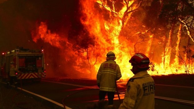 Australian bushfires  Thousands trapped on Australian beaches by dangerous bushfires australia bushfires