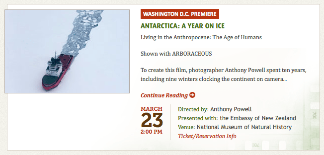 D.C. Environmental Film Festival Launches